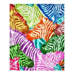 Zebra Colorful Abstract Collage Shower Curtain 60  X 72  (medium)