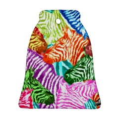 Zebra Colorful Abstract Collage Bell Ornament (2 Sides)