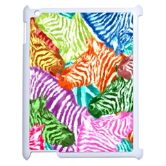 Zebra Colorful Abstract Collage Apple Ipad 2 Case (white)
