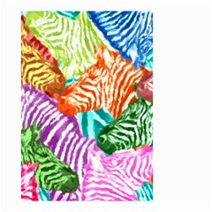 Zebra Colorful Abstract Collage Small Garden Flag (two Sides)