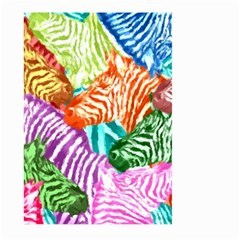 Zebra Colorful Abstract Collage Large Garden Flag (two Sides)