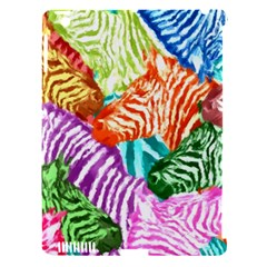 Zebra Colorful Abstract Collage Apple Ipad 3/4 Hardshell Case (compatible With Smart Cover)