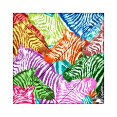 Zebra Colorful Abstract Collage Acrylic Tangram Puzzle (6  X 6 )