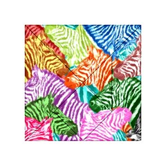 Zebra Colorful Abstract Collage Acrylic Tangram Puzzle (4  x 4 )