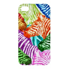 Zebra Colorful Abstract Collage Apple Iphone 4/4s Premium Hardshell Case