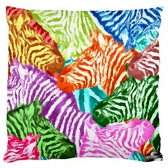 Zebra Colorful Abstract Collage Large Cushion Case (one Side)