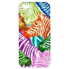 Zebra Colorful Abstract Collage Apple Iphone 5 Hardshell Case