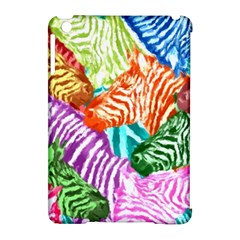 Zebra Colorful Abstract Collage Apple Ipad Mini Hardshell Case (compatible With Smart Cover)