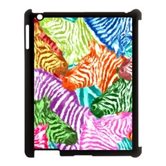 Zebra Colorful Abstract Collage Apple Ipad 3/4 Case (black)