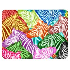 Zebra Colorful Abstract Collage Samsung Galaxy Tab 7  P1000 Flip Case