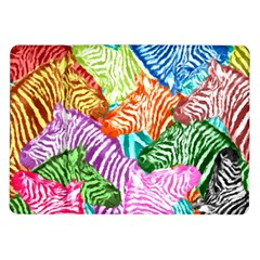Zebra Colorful Abstract Collage Samsung Galaxy Tab 10 1  P7500 Flip Case