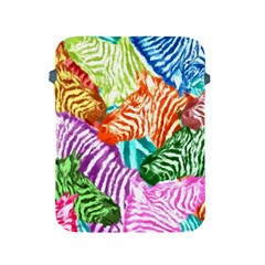Zebra Colorful Abstract Collage Apple Ipad 2/3/4 Protective Soft Cases