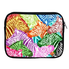 Zebra Colorful Abstract Collage Apple Ipad 2/3/4 Zipper Cases