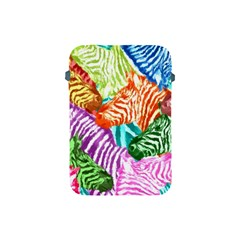Zebra Colorful Abstract Collage Apple iPad Mini Protective Soft Cases