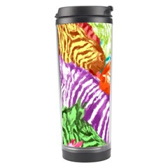 Zebra Colorful Abstract Collage Travel Tumbler