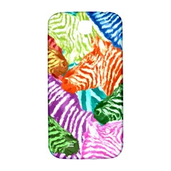 Zebra Colorful Abstract Collage Samsung Galaxy S4 I9500/i9505  Hardshell Back Case