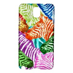 Zebra Colorful Abstract Collage Samsung Galaxy Note 3 N9005 Hardshell Case