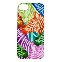 Zebra Colorful Abstract Collage Apple Iphone 5s/ Se Hardshell Case