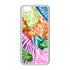 Zebra Colorful Abstract Collage Apple Iphone 5c Seamless Case (white)