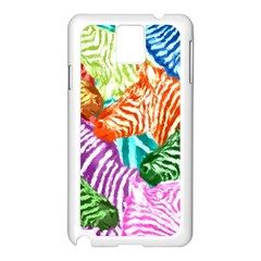 Zebra Colorful Abstract Collage Samsung Galaxy Note 3 N9005 Case (white)