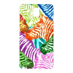 Zebra Colorful Abstract Collage Samsung Galaxy Note 3 N9005 Hardshell Back Case