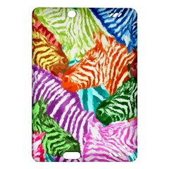 Zebra Colorful Abstract Collage Amazon Kindle Fire Hd (2013) Hardshell Case