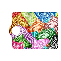 Zebra Colorful Abstract Collage Kindle Fire Hd (2013) Flip 360 Case