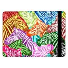 Zebra Colorful Abstract Collage Samsung Galaxy Tab Pro 12 2  Flip Case