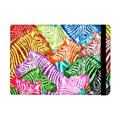 Zebra Colorful Abstract Collage Ipad Mini 2 Flip Cases