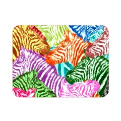Zebra Colorful Abstract Collage Double Sided Flano Blanket (mini)
