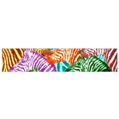 Zebra Colorful Abstract Collage Flano Scarf (small)