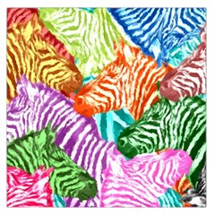 Zebra Colorful Abstract Collage Large Satin Scarf (square)