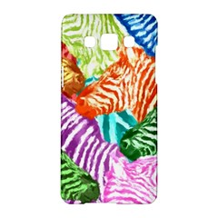 Zebra Colorful Abstract Collage Samsung Galaxy A5 Hardshell Case