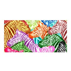 Zebra Colorful Abstract Collage Satin Wrap