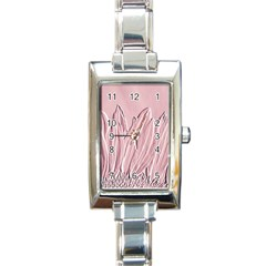 Shabby Chic Vintage Background Rectangle Italian Charm Watch