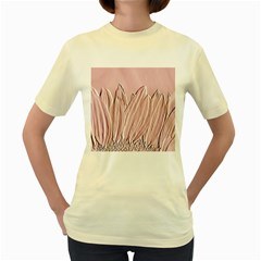 Shabby Chic Vintage Background Women s Yellow T Shirt