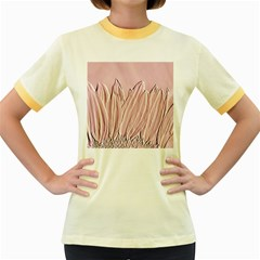 Shabby Chic Vintage Background Women s Fitted Ringer T-Shirts