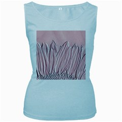 Shabby Chic Vintage Background Women s Baby Blue Tank Top