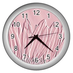 Shabby Chic Vintage Background Wall Clocks (silver)