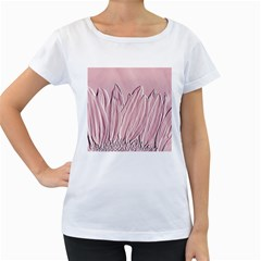 Shabby Chic Vintage Background Women s Loose Fit T Shirt (white)