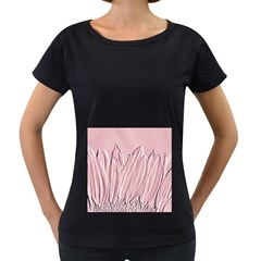 Shabby Chic Vintage Background Women s Loose Fit T Shirt (black)