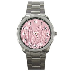 Shabby Chic Vintage Background Sport Metal Watch