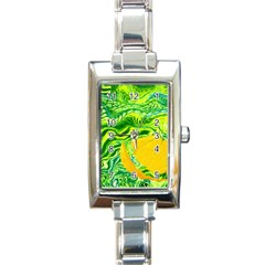 Zitro Abstract Sour Texture Food Rectangle Italian Charm Watch