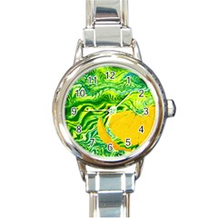 Zitro Abstract Sour Texture Food Round Italian Charm Watch