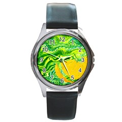 Zitro Abstract Sour Texture Food Round Metal Watch