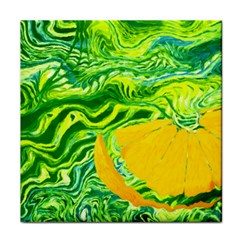 Zitro Abstract Sour Texture Food Tile Coasters