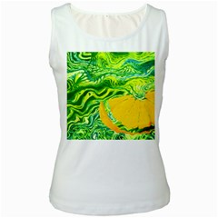 Zitro Abstract Sour Texture Food Women s White Tank Top