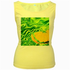 Zitro Abstract Sour Texture Food Women s Yellow Tank Top