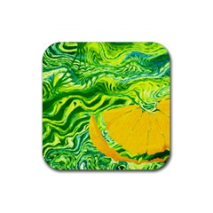 Zitro Abstract Sour Texture Food Rubber Coaster (square)