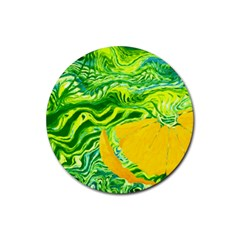 Zitro Abstract Sour Texture Food Rubber Coaster (round)